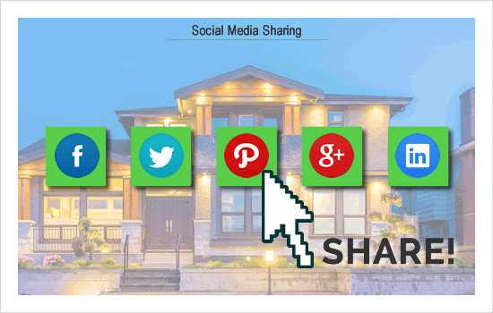 Social Media sharing of real estate
