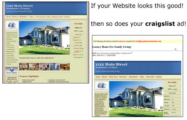 An example of a single property site