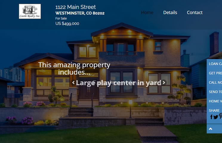 Single Property Sites example3