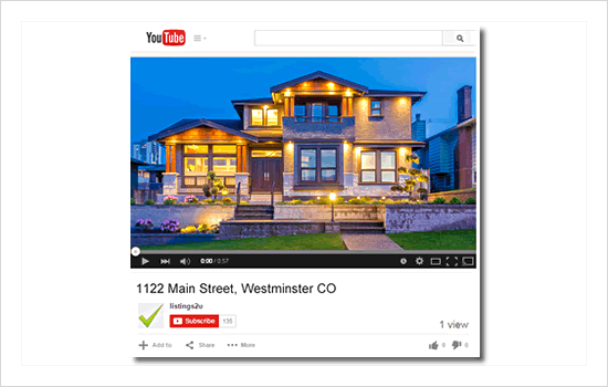 YouTube video created for your property